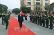 Chủ tịch nước Trần Đại Quang thăm lực lượng vũ trang Quân khu 1
