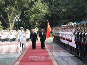 Lễ đón trọng thể Tổng Bí thư, Chủ tịch nước Lào Bounnhang Vorachith