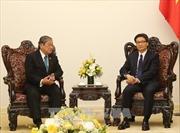 Phó Thủ tướng Vũ Đức Đam tiếp Bộ trưởng Bộ Thông tin Vương quốc Campuchia Khieu Kanharith