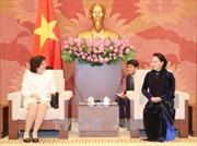Chủ tịch Quốc hội Nguyễn Thị Kim Ngân tiếp Đại sứ Cuba
