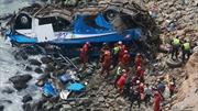 Video vụ xe buýt lao vực khiến 36 người thiệt mạng