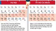 Lịch nghỉ Tết Nguyên đán Mậu Tuất 2018 của học sinh Hà Nội và TP Hồ Chí Minh
