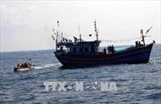 Tàu khai thác cát va chạm với tàu Sao đỏ, 7 thuyền viên gặp nạn