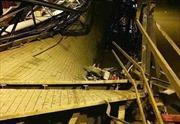 Sập cầu Long Kiển huyện nhà Bè, nghi có 2 người mất tích