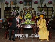 Chủ tịch Ủy ban Trung ương MTTQ thăm, chúc Tết Trưởng lão Hòa thượng Thích Phổ Tuệ