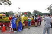 Đông đảo khách du Xuân, chụp ảnh tại các Hội hoa Xuân TP Hồ Chí Minh