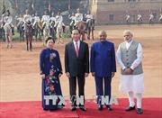 Lễ đón Chủ tịch nước Trần Đại Quang thăm cấp Nhà nước tới Cộng hòa Ấn Độ