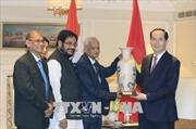 Chủ tịch nước Trần Đại Quang tiếp lãnh đạo các chính đảng Ấn Độ