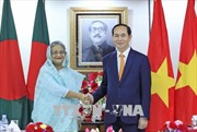 Chủ tịch nước Trần Đại Quang hội đàm với Thủ tướng Bangladesh Sheikh Hasina