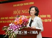Quán triệt các văn bản mới của Bộ Chính trị, Ban Bí thư về công tác dân vận