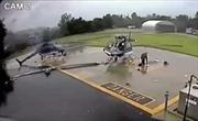 Video trực thăng vô tình dùng cánh quạt 'xẻ nhau' nát bươm