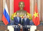 Chủ tịch nước Trần Đại Quang tiếp Bộ trưởng Ngoại giao Liên bang Nga