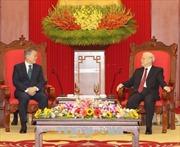 Tổng Bí thư Nguyễn Phú Trọng tiếp Tổng thống Hàn Quốc Moon Jae-in