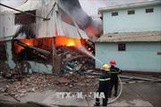 Vụ cháy lớn tại Công ty may Vina Korea gây thiệt hại nặng nề