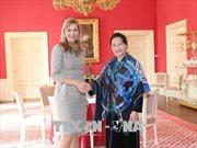 Chủ tịch Quốc hội Nguyễn Thị Kim Ngân chào xã giao Hoàng hậu Vương quốc Hà Lan
