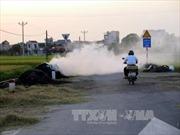 Ngăn chặn hành vi đốt rơm rạ gây mất an toàn giao thông