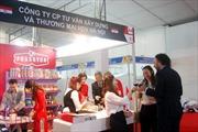 Gian hàng đồ gia vị hãng Podravka và thịt lợn muối phơi sương hãng Vostane - Croatia tại hội chợ Vietnam Expo 2018