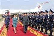 Hình ảnh chuyên cơ siêu sang chở lãnh đạo Triều Tiên Kim Jong-un tới Trung Quốc