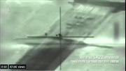 Khoảnh khắc tên lửa Israel dội trúng tổ hợp pháo phòng không Syria