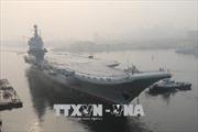 Trung Quốc cho chạy thử trên biển tàu sân bay đầu tiên chế tạo trong nước