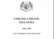 Malaysia sớm hủy bỏ Luật Chống tin giả