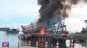 Cháy tàu vỏ thép tại cảng Kỳ Hà, Quảng Nam