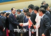 Chủ tịch nước Trần Đại Quang và Phu nhân bắt đầu chuyến thăm cấp Nhà nước tới Nhật Bản