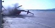 Video trực thăng Mi-8 lao thẳng vào tòa nhà vỡ vụn