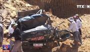 Sập mỏ đất ở Hà Tĩnh vùi lấp lái xe và nhiều ô tô