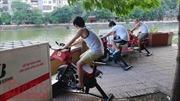 Xe đạp lọc nước bảo vệ môi trường vừa đưa vào sử dụng đã hư hỏng