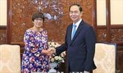Chủ tịch nước Trần Đại Quang tiếp Đại sứ Vương quốc Bỉ Jehanne Roccas