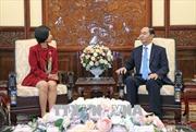 Chủ tịch nước Trần Đại Quang tiếp Đại sứ Canada Ping Kitnikone