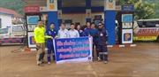Petrolimex Lào hỗ trợ xăng dầu các xe cứu hộ vụ vỡ đập thủy điện