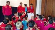 Xem thầy trò HLV Park Hang-seo thư giãn trước trận đấu với Nhật Bản