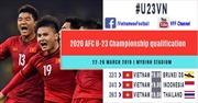 6 trận đấu Vòng loại Bảng K, Giải Bóng đá vô địch U23 châu Á 2020 sẽ được phát sóng rộng khắp