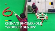 'Thần đồng' bi-a Trung Quốc bắn bóng điêu luyện