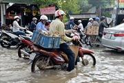 An Giang: Triều cường lên cao, nhiều tuyến đường ở TP Long Xuyên ngập sâu