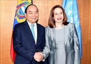Thủ tướng Nguyễn Xuân Phúc gặp Chủ tịch Đại hội đồng và Tổng Thư ký Liên hợp quốc