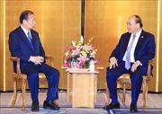 Thủ tướng Nguyễn Xuân Phúc tiếp Chủ tịch Liên minh nghị sỹ hữu nghị Nhật - Việt