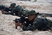 Cận cảnh Mỹ, Thái Lan và Hàn Quốc tập trận đổ bộ Hổ mang Vàng