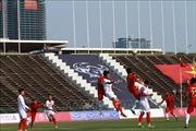 Thế trận giằng co trong hiệp 1 trận bán kết U22 Việt Nam - U22 Indonesia