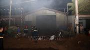 Cháy lớn tại kho phế liệu ở Bình Phước