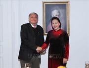 Chủ tịch Quốc hội Nguyễn Thị Kim Ngân gặp Tổng Thư ký Hội hữu nghị Pháp - Việt