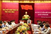 Đoàn công tác Tiểu ban Điều lệ Đại hội XIII của Đảng làm việc tại tỉnh Hòa Bình