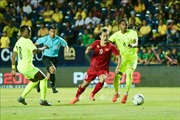 KING'S CUP 2019: Tuyển Việt Nam và Curacao cầm hòa 0-0 trong hiệp 1