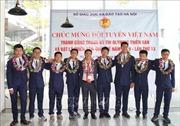 Đón đoàn học sinh Việt Nam giành thành tích cao tại Olympic quốc tế Thiên văn học và Vật lý thiên văn