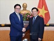 Phó Thủ tướng Phạm Bình Minh tiếp Đại sứ Campuchia chào từ biệt