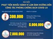 Hà Nội: Phạt tiền nhiều hành vi làm ảnh hưởng đến công tác phòng chống dịch COVID-19
