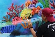 Đảo Lý Sơn sáng bừng với tranh bích họa