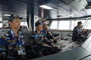 Tàu cảnh sát biển Việt Nam lên đường kiểm tra liên hợp nghề cá Vịnh Bắc Bộ lần thứ 2